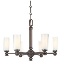 Harvard Court 6 Light 26 inch Harvard Court Bronze Plated Chandelier Ceiling Light