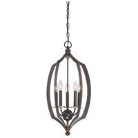 Minka-Lavery 4372-579 Middletown 5 Light 14 inch Downton Bronze with Gold Foyer Pendant Ceiling Light