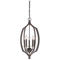 Middletown 5 Light 14 inch Downton Bronze/Gold Pendant Ceiling Light