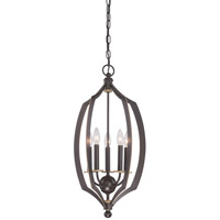 Minka Lavery Middletown 5 Light Foyer Pendant in Downton Bronze With Gold Highlights 4372-579