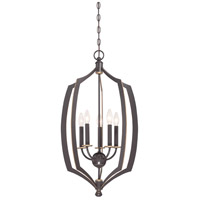 Minka-Lavery 4373-579 Middletown 5 Light 17 inch Downton Bronze with Gold Foyer Pendant Ceiling Light