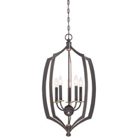 Minka Lavery Middletown 5 Light Foyer Pendant in Downton Bronze With Gold Highlights 4373-579