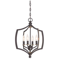 Minka-Lavery 4374-579 Middletown 4 Light 16 inch Downton Bronze with Gold Mini Chandelier Ceiling Light