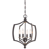 Minka Lavery Middletown 4 Light Mini-Chandelier in Downton Bronze With Gold Highlights 4374-579