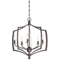 Middletown 5 Light 23 inch Downton Bronze/Gold Chandelier Ceiling Light
