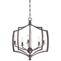 Minka Lavery Middletown 5 Light Chandelier in Downton Bronze With Gold Highlights 4375-579