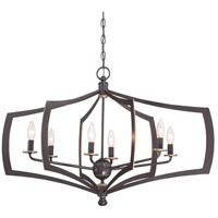 Middletown 6 Light 34 inch Downton Bronze/Gold Chandelier Ceiling Light