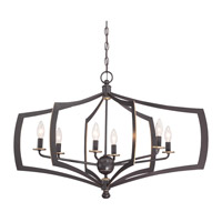 Minka Lavery Middletown 6 Light Chandelier in Downton Bronze With Gold Highlights 4376-579