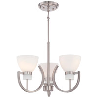 Minka Lavery Hudson Bay 3 Light Mini-Pendant in Brushed Nickel 4383-84