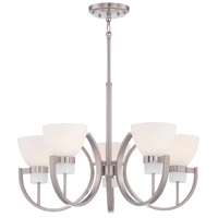 Minka Lavery Hudson Bay 5 Light Chandelier in Brushed Nickel 4385-84