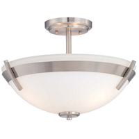 Minka Lavery Hudson Bay 3 Light Semi-Flush in Brushed Nickel 4387-84