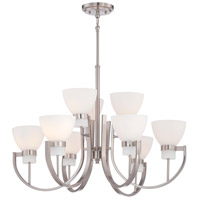 Hudson Bay 9 Light 30 inch Brushed Nickel Chandelier Ceiling Light