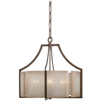 Minka-Lavery Clarte 6 Light Chandelier in Patina Iron 4396-573 photo thumbnail