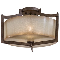 Clarte 3 Light 17 inch Patina Iron Semi-flush Ceiling Light