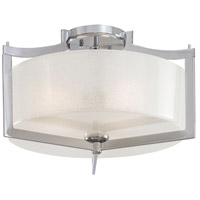 Clarte 3 Light 17 inch Chrome Semi Flush Mount Ceiling Light