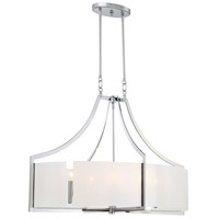 Clarte 6 Light 22 inch Chrome Pendant Ceiling Light, Oval
