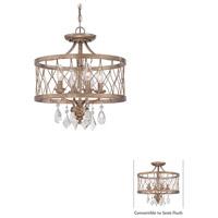 Minka-Lavery 4403-581 West Liberty 4 Light 16 inch Olympus Gold Semi Flush Mount/Mini Chandelier Ceiling Light Convertible To Semi-Flush