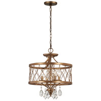 Minka-Lavery 4403-581 West Liberty 4 Light 16 inch Olympus Gold Mini Chandelier Ceiling Light, Convertible To Semi-Flush alternative photo thumbnail