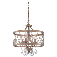 Minka Lavery West Liberty 4 Light Semi-Flush Convertible Pendant in Olympus Gold 4403-581