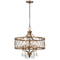 West Liberty 5 Light 21 inch Olympus Gold Chandelier Ceiling Light