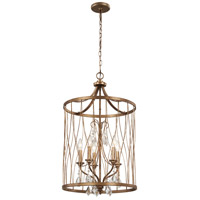 West Liberty 5 Light 18 inch Olympus Gold Pendant Ceiling Light