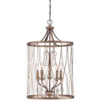 West Liberty 5 Light 18 inch Olympus Gold Foyer Pendant Ceiling Light