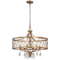 West Liberty 6 Light 24 inch Olympus Gold Chandelier Ceiling Light