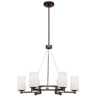 Morlaix 6 Light 26 inch Harvard Court Bronze Plated Chandelier Ceiling Light