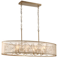 Saras Jewel 8 Light 36 inch Nanti Champaign Silver Island Lite Ceiling Light