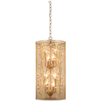 Saras Jewel 8 Light 11 inch Nanti Champaign Silver Pendant Ceiling Light