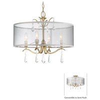 Laurel Estate 4 Light 20 inch Brio Gold Semi Flush Mount Ceiling Light