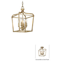Laurel Estate 4 Light 10 inch Brio Gold Pendant Ceiling Light