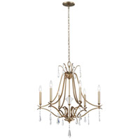 Laurel Estate 6 Light 27 inch Brio Gold Chandelier Ceiling Light