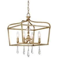 Laurel Estate 4 Light 14 inch Brio Gold Pendant Ceiling Light