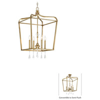 Laurel Estate 4 Light 17 inch Brio Gold Pendant Ceiling Light