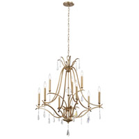 Laurel Estate 9 Light 32 inch Brio Gold Chandelier Ceiling Light