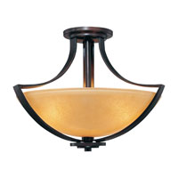 Minka-Lavery Kinston 3 Light Semi-flush in Aged Kinston Bronze 4472-298