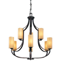 Minka-Lavery Kinston 9 Light Chandelier in Aged Kinston Bronze 4479-298 photo thumbnail