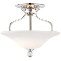 Minka-Lavery Grahmton 2 Light Semi-flush in Polished Nickel 4482-613