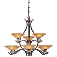Minka-Lavery Grahmton 9 Light Chandelier in Deep Lathan Bronze 4489-167B