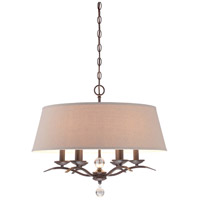 Minka Lavery Signature 6 Light Pendant in Kinston Bronze 4496-298