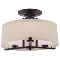 Ansmith 3 Light 18 inch Aged Kinston Bronze Semi Flush Mount Ceiling Light