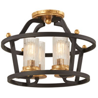 Black and Gold Semi-Flush Mounts
