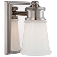 Signature 1 Light 5 inch Polished Nickel Bath Bar Wall Light