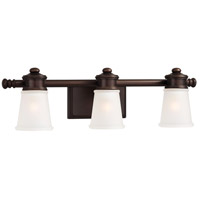 Minka-Lavery 4533-267B Signature 3 Light 24 inch Dark Brushed Bronze Bath Light Wall Light in Dark Brushed Bronze Painted