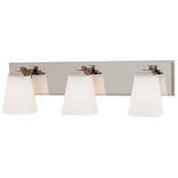 Signature 3 Light 23 inch Polished Nickel Bath Bar Wall Light