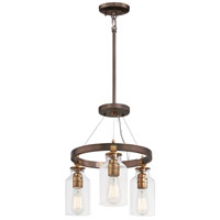 Minka-Lavery 4553-588 Morrow 3 Light 16 inch Harvard Court Bronze/Gold Semi-Flush Mount Ceiling Light Convertible To Pendant