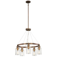 Minka-Lavery 4555-588 Morrow 5 Light 24 inch Harvard Court Bronze with Gold Chandelier Ceiling Light