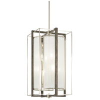 Minka-Lavery 4568-098 Tysons Gate 8 Light 14 inch Brushed Nickel/Shale Wood Pendant Ceiling Light