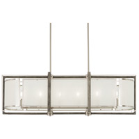 Minka-Lavery 4569-098 Tysons Gate 6 Light 42 inch Brushed Nickel/Shale Wood Island Light Ceiling Light
